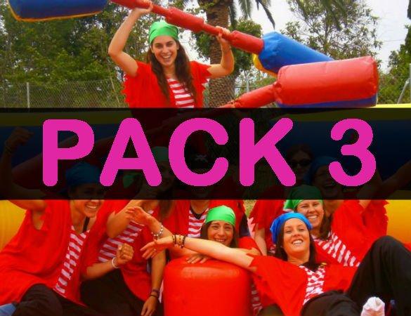 pack 3 despedida de soltera