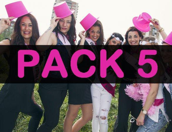 pack 5 despedida de soltera