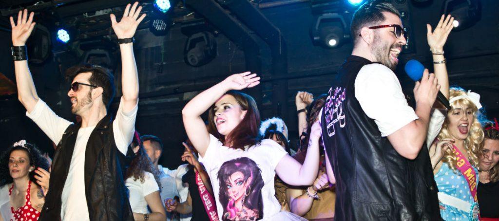 bailando en despedida en Madrid