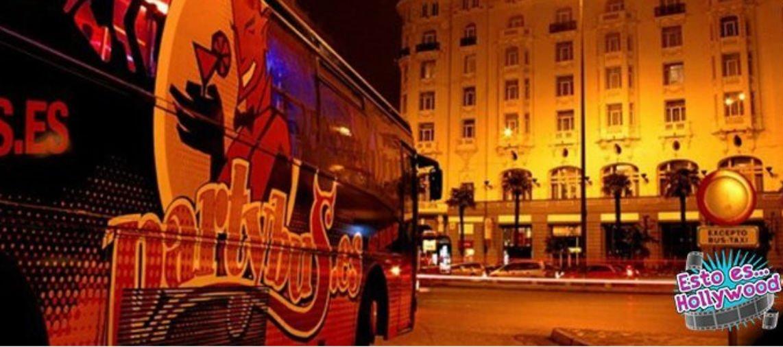 foto de party bus despedidas Madrid